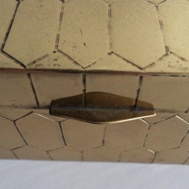 Honeycomb Pattern Brass Box - Image 4 of 6