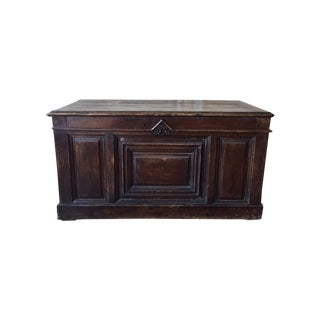 Spanish Antique Wooden Trunk Console