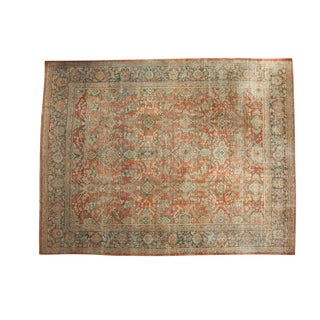 "Vintage Distressed Mahal Carpet - 10'8"" x 13'8"""