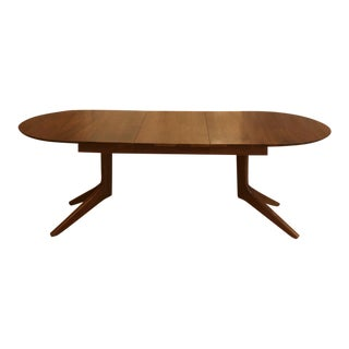 Custom Solid Walnut Dining Table in the Style of De La Espada