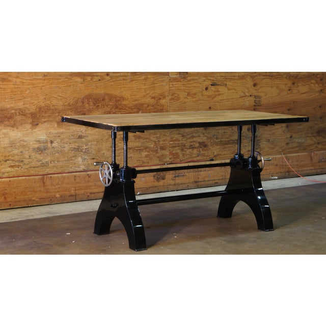 vintage industrial crank table chairish
