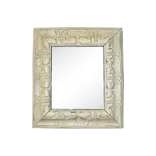 Celadon Painted Mirror