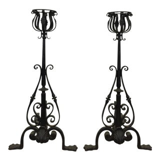 Late 19th Century Large Andirons - a Pair
