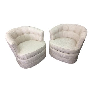 Swivel Club Chairs - A Pair