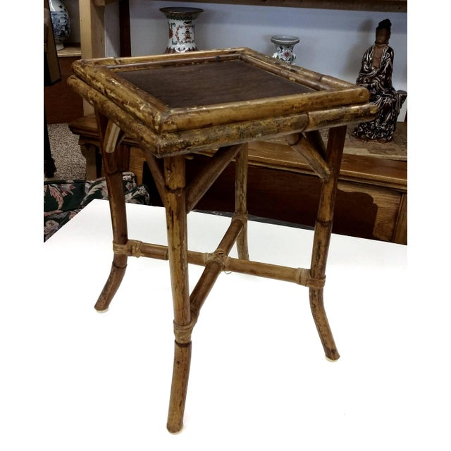 Bamboo Tortoise Coffee Table: Victorian Tortoise Shell Bamboo Woven Cane Table