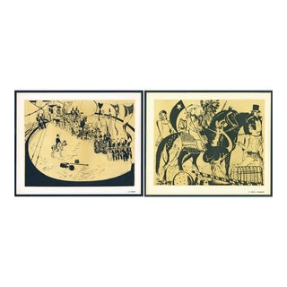 1944 Lithographs - Circus: # 1 & 74 - A Pair