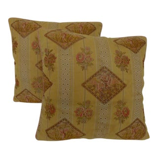 "Arts & Crafts Style Pillows - 22"" x 22"" - A Pair"