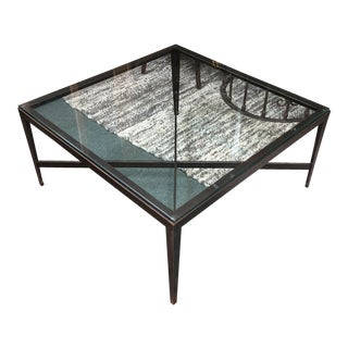 Vintage Mid-Century Glass Coffee Table