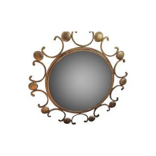 Stunning Starburst Style Iron Gilded Mirror