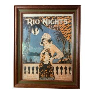 C.1920s Rio Nights Sheet Music