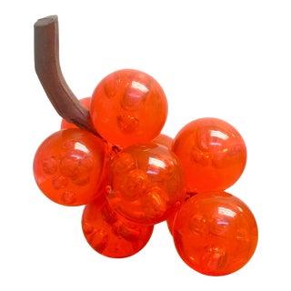 Neon Orange Lucite Grape Cluster