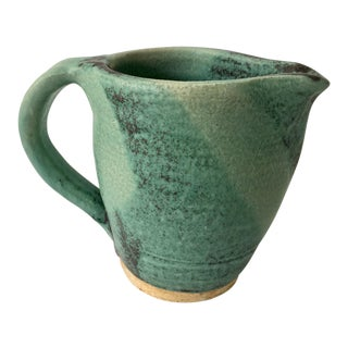 Vintage Green Ceramic Pitcher