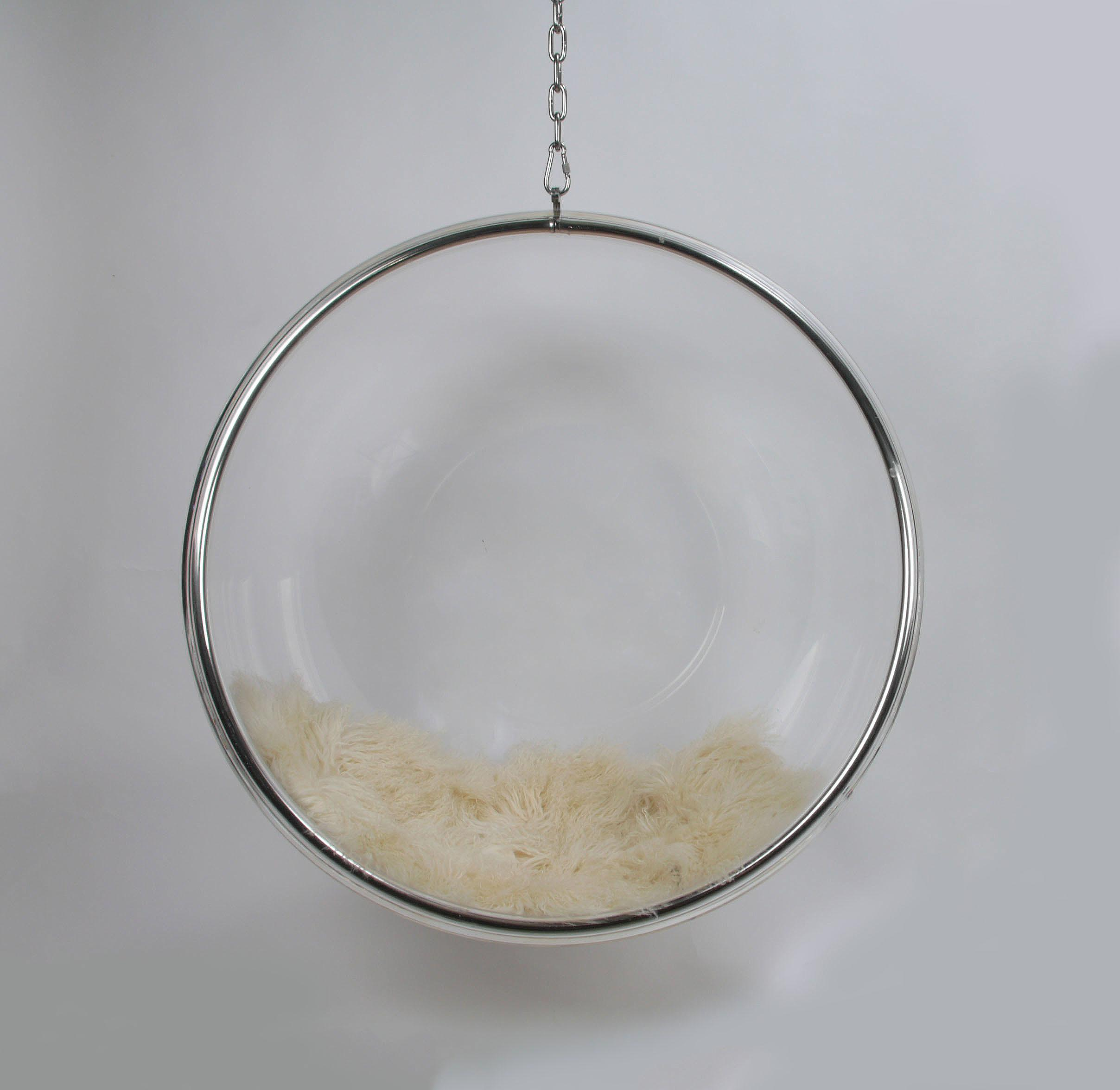 eero aarnio by adelta hanging lucite bubble chair image 2 of 7