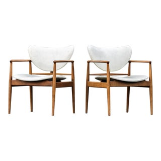 Finn Juhl for Baker Furniture No. 48 Armchairs - a Pair