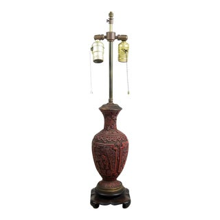 Late 19th Century Cinnabar Lamp
