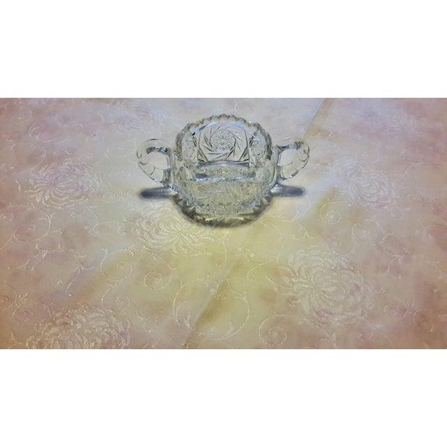 American Brilliant Period Cut Glass Sugar Dish - Image 6 of 7