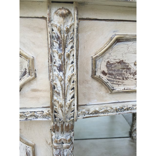 Vintage Distressed Hollywood Regency Sideboard - Image 8 of 8