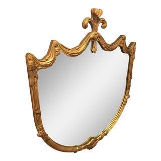 Vintage Gold Gilt Fleur De Lis Mirror