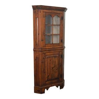 Stephen Von Hohen Bucks County Hand Crafted Solid Pine Corner Cabinet