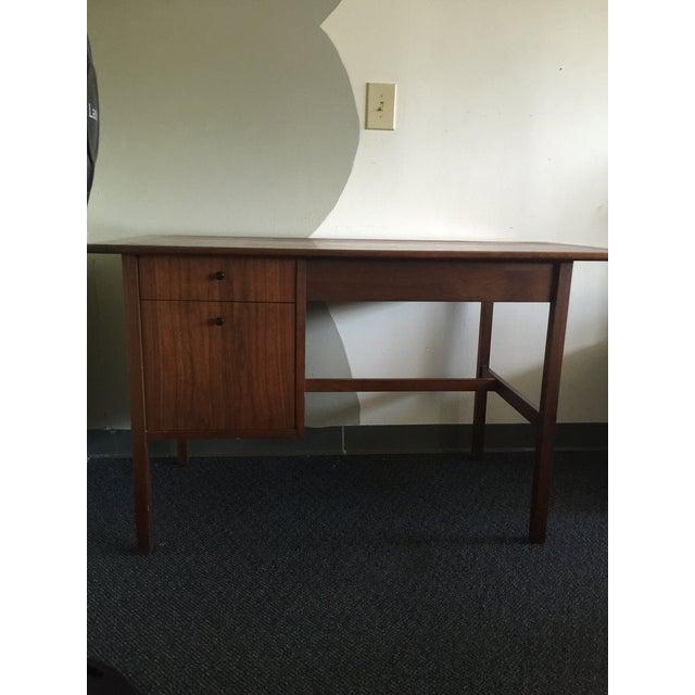 Mid-Century Modern Wooden Desk - Image 2 of 7