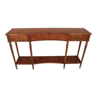 Jonathan Charles Seaweed Marquetry Console Table