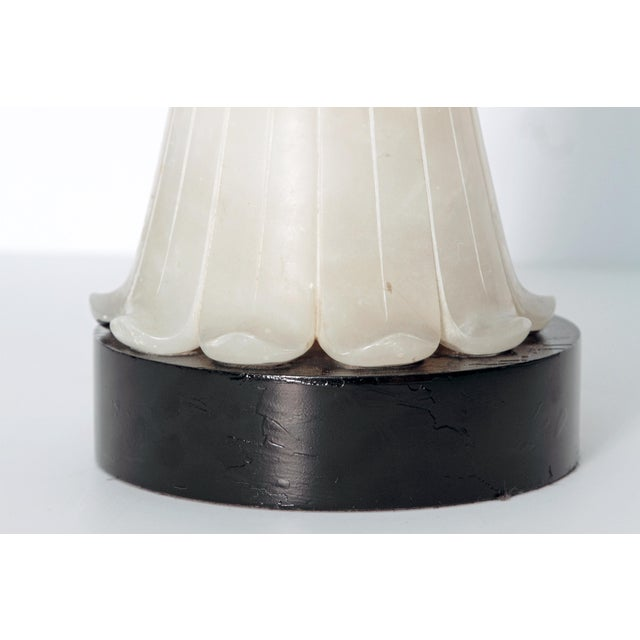 Tall Art Deco Alabaster Lamp - Image 7 of 9