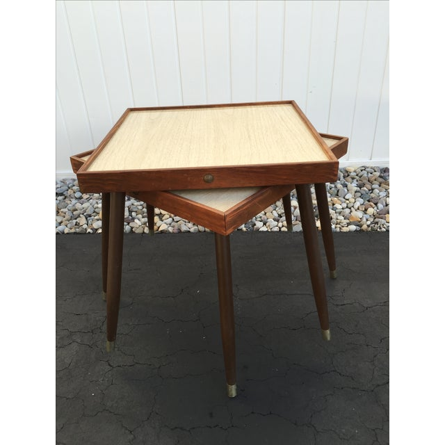 Mid-Century Stacking Side Tables - Pair - Image 2 of 6