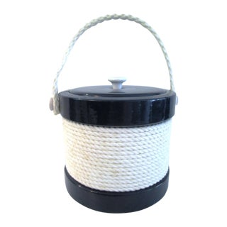 Kraftware Vintage Nautical Navy & White Ice Bucket