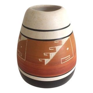 Vintage Native American Navajo Pottery Vase