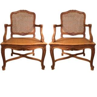 Regence Style Beechwood Fauteuils - Pair