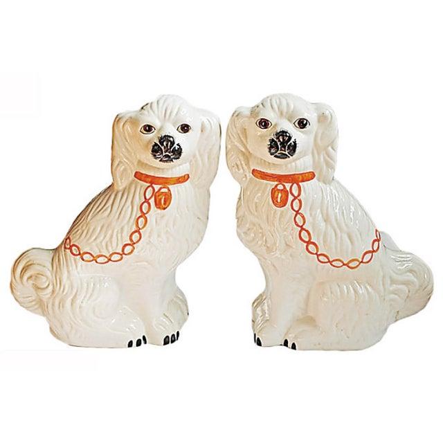 Pair of Vintage Ceramic Dogs - Image 1 of 4