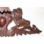 Image of French Antique Oak Lion Cartouche
