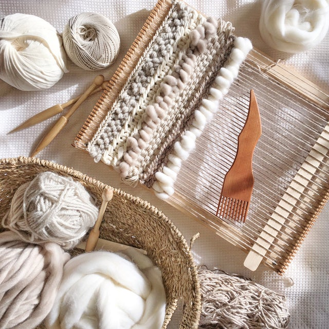 Image of Willow Brooke Neutral Woven Wall Hanging