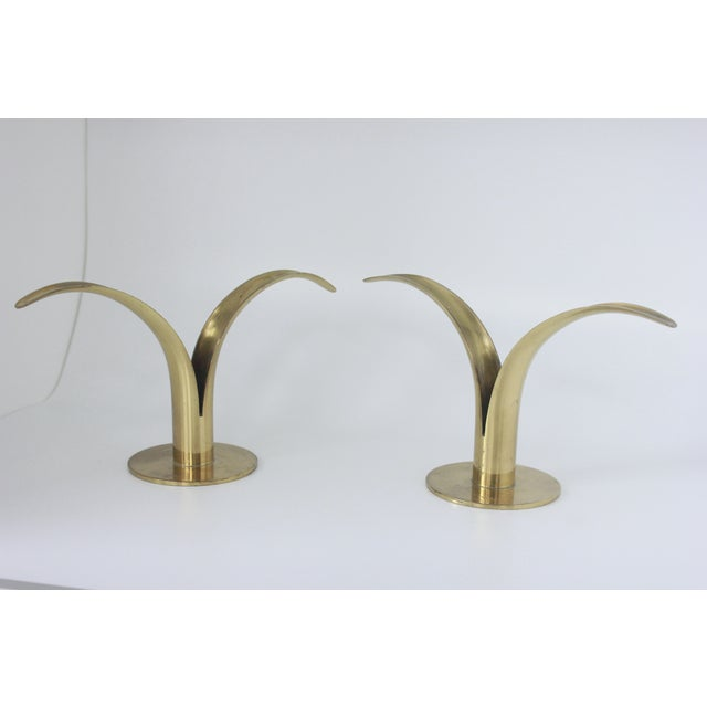Ystad Metall Swedish Brass Candlesticks- A Pair - Image 2 of 8