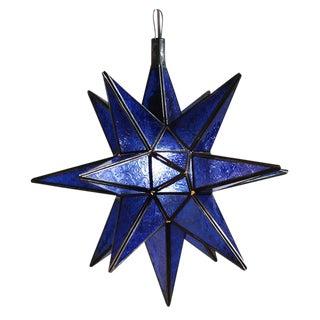 Moroccan Blue Star Lantern