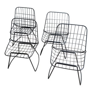 Mid-Century Metal Folding Chairs - Set of 4