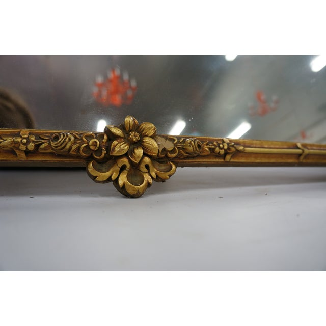 Image of Pagoda Mirror with Floral Detailing