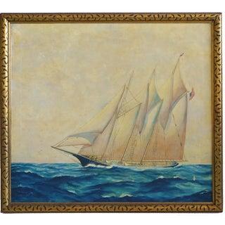 American Schooner Painting, 1932