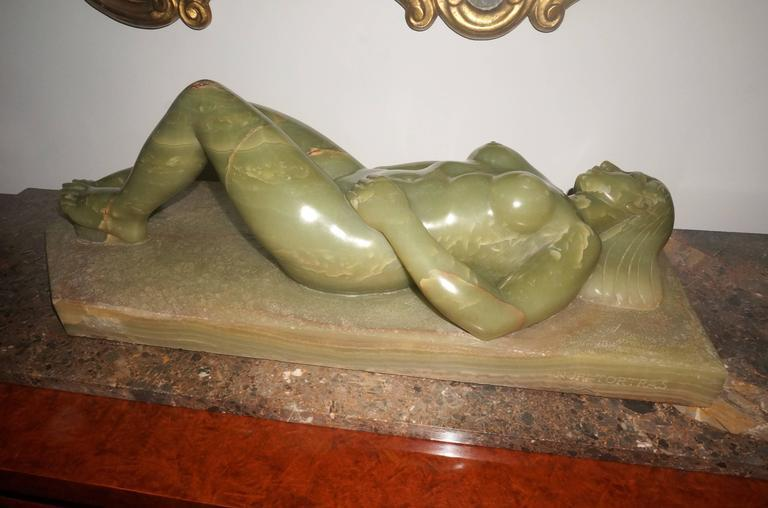 Large-Scale Onyx Sculpture of a Reclining Female Nude by Nuri Tortras - Image 3  sc 1 st  DECASO & Exquisite Large-Scale Onyx Sculpture of a Reclining Female Nude by ... islam-shia.org