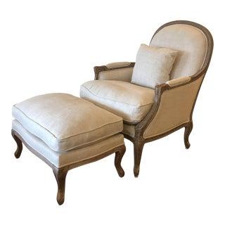 Restoration Hardware Lyon Chair & Ottoman