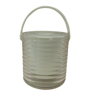 Vintage 1980s Lucite Ice Bucket