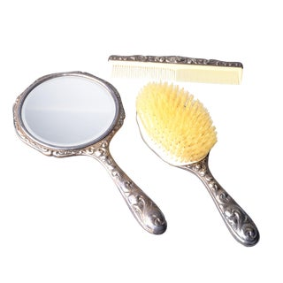 Art Deco Sterling Silver Vanity Set