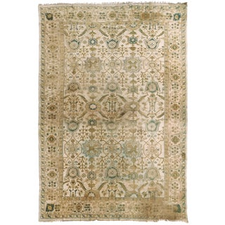 Antique Hand Knotted Indo-Oushak Rug - 12′ × 17′6″