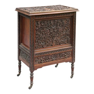 Antique Carved Cocktail Bar Drinks Cabinet