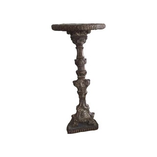 Antique Indo-Portugese Repousse Altar Candlestick