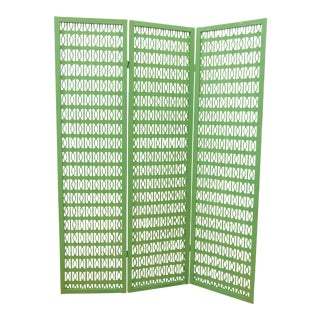 Green Mid-Century Folding Room Divider