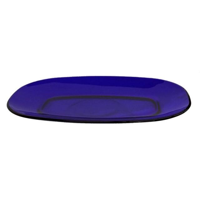 Image of Duralex Bormioli Rocco Cobalt Blue Serving Plate