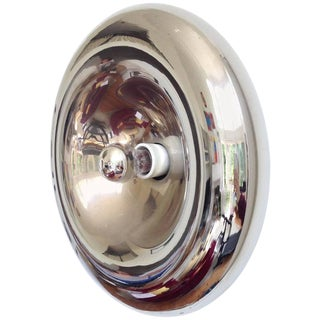 Sciolari Style Polished Chrome Sconce