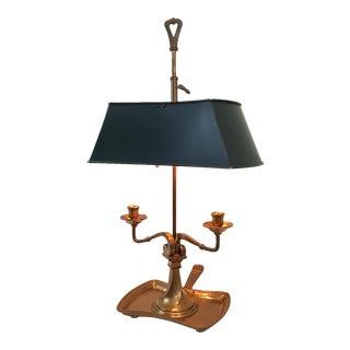 Vintage Brass Chapman Tole Bouillotte Lamp