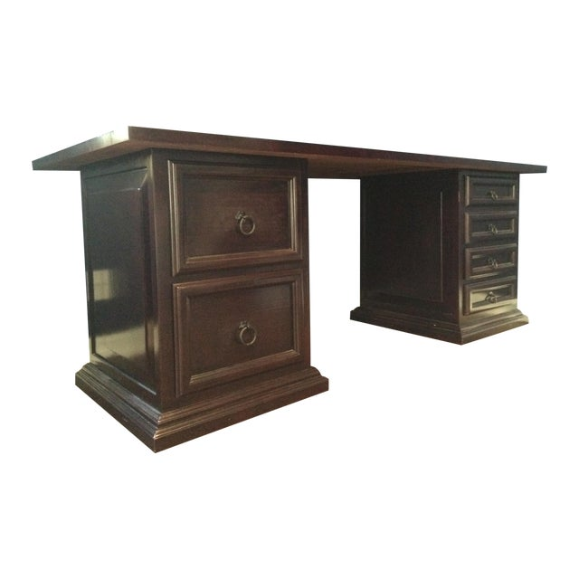 Pampa Furniture Traditional Dark Wood Desk - Image 1 of 5